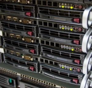 Several rackmount servers
